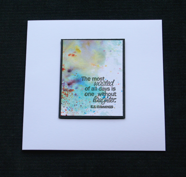 Laughter Cloud - Handcrafted (Blank) Card - dr17-0036