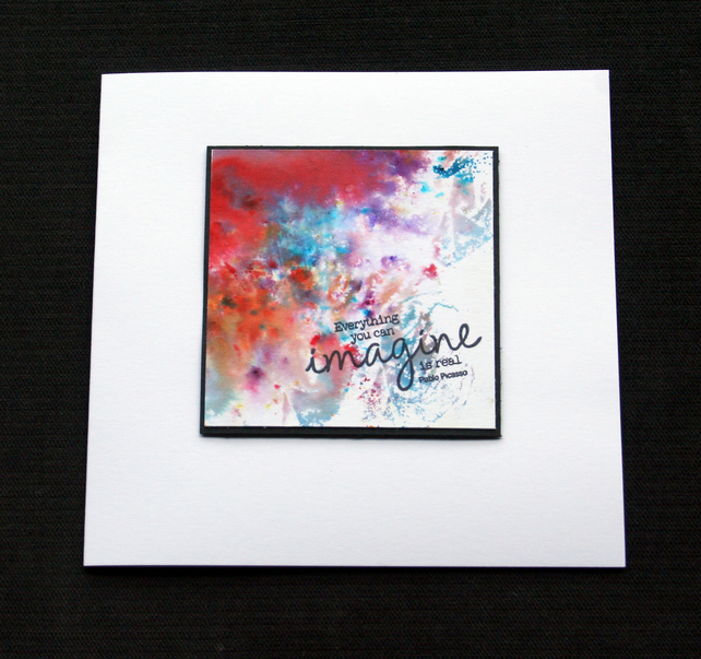 Imagine Colour Cloud - Handcrafted (blank) Card - dr17-0035