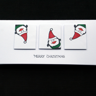 Topsy Turvy Penguins - Handcrafted Christmas Card - dr17-0041