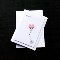 Will ewe... be mine - Handcrafted Valentines Card - dr18-0001