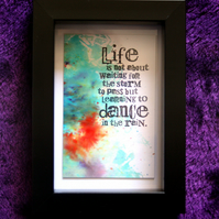 Dance In The Rain - Handcrafted Framed Artwork - dr17-0080
