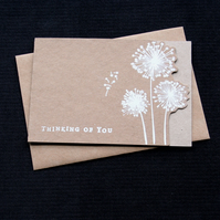 Thinking Of You Wildflowers - Handcrafted (blank) Card - dr18-0060