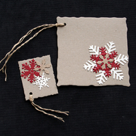 Nordic Tags - set of 2 - Handcrafted Christmas Gift Tags - dr18-0067