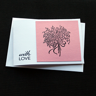 With Love Bouquet - Handcrafted (blank) Card - dr19-0003