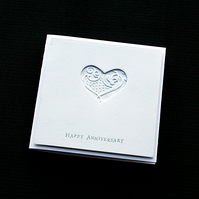Happy Anniversary Heart - Handcrafted Anniversary Card - dr19-0005