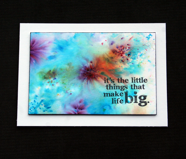 Little Things - Handcrafted Frameable Image - dr18-0072