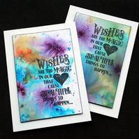 Magic Wishes - Handcrafted  Frameable Image - dr18-0074