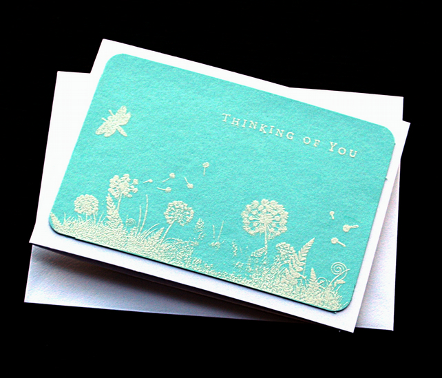 Thinking Of You Landscape - Handcrafted Sympathy Card - dr19-0004