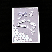Sending Lilac Love - Handcrafted (blank) Card - dr19-0015