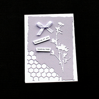 Sending Lilac Hugs - Handcrafted (blank) Card - dr19-0013
