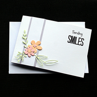 Sending Smiles - Handcrafted (blank) Card - dr19-0019