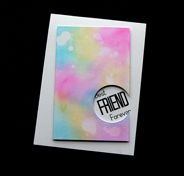 Best Friend Forever - Handcrafted (blank) Card - dr19-0024