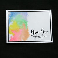 You Are My Happy Place - Handcrafted (blank) Card - dr19-0030