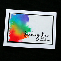 Sending You Sunshine - Handcrafted (blank) Card - dr19-0028