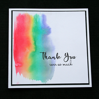 Thank You Ever So Much - Handcrafted Thank You Card - dr19-0039