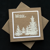 Winter Wishes - Handcrafted Christmas Card - dr19-0052