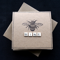 bee MINE (upper) - Handcrafted Valentines Card - dr19-0055