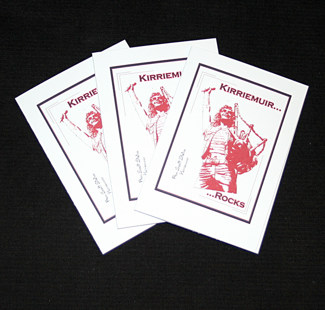 Kirriemuir Rocks - Handcrafted Notecards - pack of3 - dr19-0043