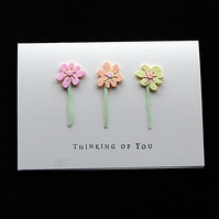 Thinking Of You Stems - Handcrafted Card - dr20-0009
