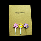 Birthday Stems - Handcrafted Birthday Card - dr20-0008