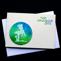 Imagine The Real - Handcrafted (Blank) Card - dr17-0015