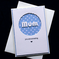 Amazing Mum (Stars) - Handcrafted Mothers Day Card - dr17-0020