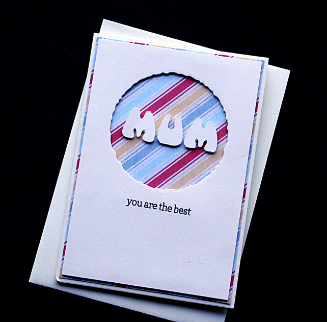 Best Mum - Handcrafted Mothers Day Card - dr17-0019