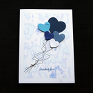 Love Balloons - Handcrafted (blank) Card - dr20-0018