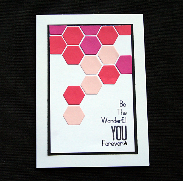 Wonderful You - Handcrafted (blank) Card - dr20-0019