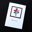Happy Birthday Balloons - Handcrafted Birthday Card - dr20-0017