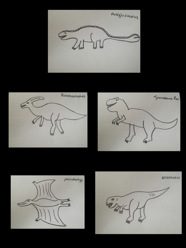PDF Children's Colouring Sheets Dinosaurs Set 1