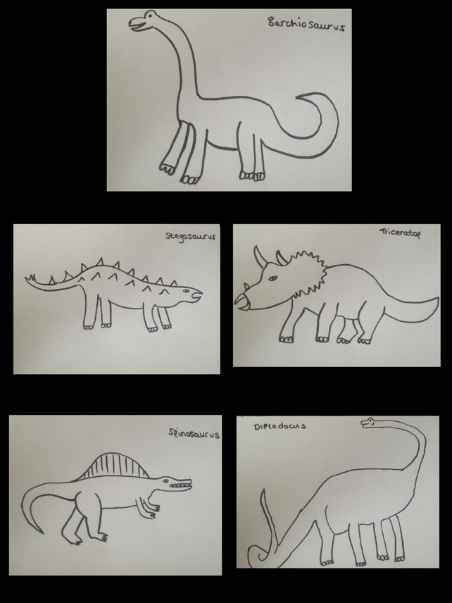 PDF Children's Colouring Sheets Dinosaurs Set 2