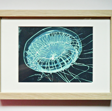 Original Jellyfish Print. Fine Art Print. Deep Sea Jellyfish. Hydromedusa