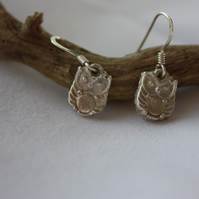 Owl earrings made from Fine Silver (999)