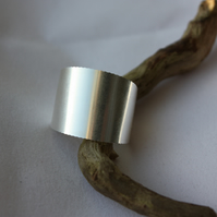 Hallmarked Broad Band Ring Upcycled from a Fine Silver Coin
