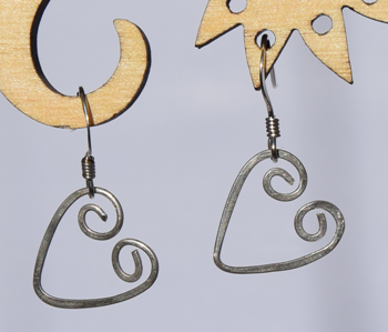 Cute Sterling Silver Heart Earrings