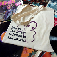 Bad Music tote bag