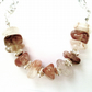 Strawberry Quartz Necklace, Gemstone Quartz Necklace