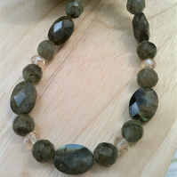 Labradorite Gemstone Necklace, Gemstone & Crystal Jewellery