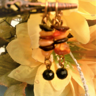 Baltic Amber Earrings, Multi Coloured Amber Jewellery, Gold Plated Amber