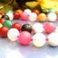 Multi Coloured Agate Necklace, Colourful gemstone Necklace