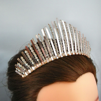 Rose Gold tiara statement tiara bridal headpiece bridal hair piece Wedding hair