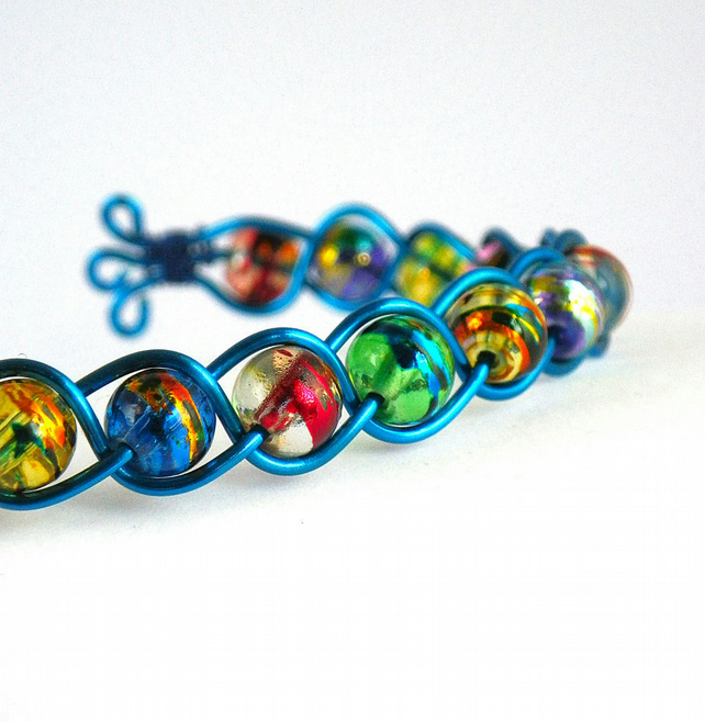 Rainbow Bangle - Colourful Bracelet