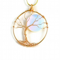 Full Moon Tree of Life Necklace - nature jewellery gift