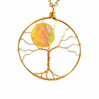 Tree of Life with Moon Handmade Necklace