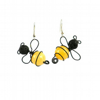 Bee Earrings -gift for outlander jewellery tell the bees bumble bee nature lover