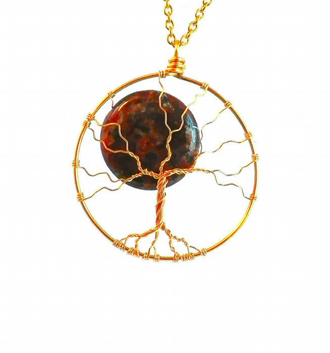 Tree of Life with Moon Handmade Necklace Christmas gift