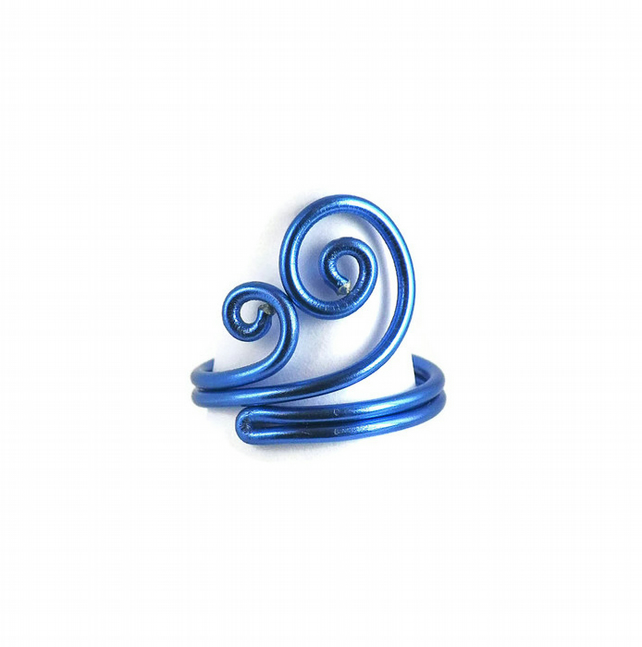 Fits any size Swirls Handmade Adjustable Ring