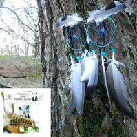 DIY Kit barn Owl Dream Catcher kit - hallowen craft kits Christmas gift for kids