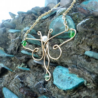 Dragonfly Necklace - angel outlander jewellery christmas gift for her nature